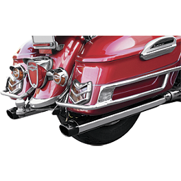 LA Choppers Slip-On Mufflers - 2006 Yamaha Royal Star 1300 Midnight Venture - XVZ13TFM Show Chrome Touring Windshield - Tinted
