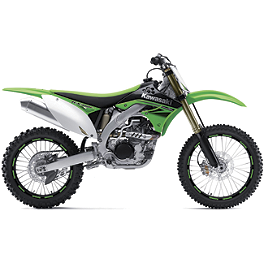 "Limited Rim Decals - Kawasaki 19""/21"" - 2001 Kawasaki KX125 Factory Effex DX1 Backgrounds Pro - Kawasaki"