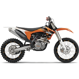 "Limited Rim Decals - KTM 19""/21"" - One Industries Techno-Grip Seat Cover - Black/Orange"