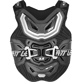 Leatt 5.5 Pro Lite Chest Protector - Rock Billet Flag Mount 5/16