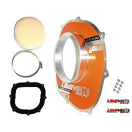Loudmouth High Performance Air Filter Intake Kit - 2011 KTM 450SXF FMF Factory 4.1 Titanium Slip-On RCT With Titanium Megabomb Header And Carbon Fiber End Cap