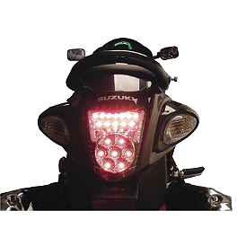 Lockhart Phillips Afterburner LED Blinker Tail Light - 2000 Suzuki GSX1300R - Hayabusa Lockhart Phillips LED Tail Light With Integrated Turn Signals - Clear