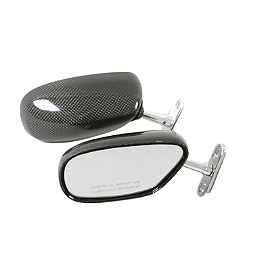 Lockhart Phillips Carbon Mirror - 120mm - Suzuki Genuine Accessories Mirror Covers - Black Chrome