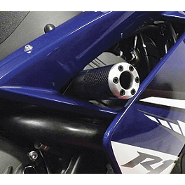 Lockhart Phillips Carbon Fiber Frame Sliders - 2007 Yamaha YZF - R1 Puig No Mod Crash Pads - Red