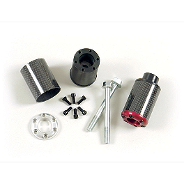Lockhart Phillips Carbon Fiber Frame Sliders - Lockhart Phillips Carbon Inlay Swingarm Spools
