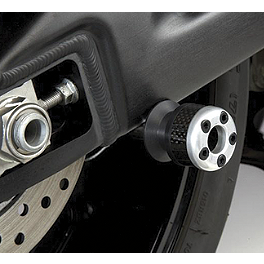 Lockhart Phillips Carbon Inlay Swingarm Spools - 2007 Honda CBR600RR Shogun Motorsports Carbon S5 Fiber Swingarm Sliders