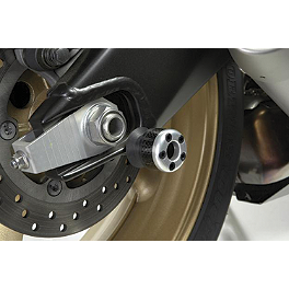 Lockhart Phillips Carbon Inlay Swingarm Spools - 1999 Yamaha YZF - R1 Shogun Motorsports Carbon S5 Fiber Swingarm Sliders