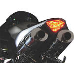 Lockhart Phillips LED Tail Light With Integrated Turn Signals - Clear - Lockhart Phillips Motorcycle Lights and Electrical
