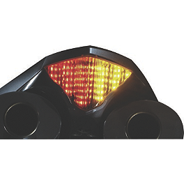 Lockhart Phillips LED Tail Light With Integrated Turn Signals - Smoke - 2004 Honda CBR600RR Yoshimura RS-5 Slip-On Exhaust - Stainless Steel