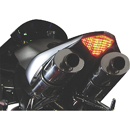 Lockhart Phillips LED Tail Light With Integrated Turn Signals - Clear - 2002 Kawasaki ZX600 - Ninja ZX-6R AKO Racing LED Integrated Tail Light