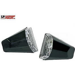 Lockhart Phillips Scoop LED Turn Signals - Lockhart Phillips Carbon Inlay Swingarm Buttons