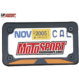 Lockhart Phillips LED Stealth License Plate Frame - 2005 Kawasaki ZX1000 - Ninja ZX-10R Lockhart Phillips Carbon Inlay Slider Button Screws