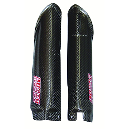 Lightspeed Lower Fork Guards - 2004 Honda CR125 AC Racing Subframe