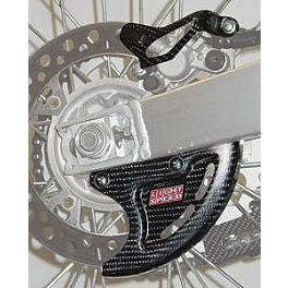 Lightspeed Rear Caliper/Disk Guard Set - 2004 Yamaha YZ250 Pro Moto Billet Sharkfin Rear Disc Guard