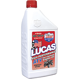 Lucas Oil Semi Synthetic ATV Motor Oil - 2006 Honda TRX450R (KICK START) Blingstar Iron Cross Front Bumper - Textured Black