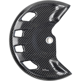Leo Vince Carbon Fiber Front Disc Guard - 2008 Honda CRF250X Leo Vince X3 Ti-Tech Enduro Full-System - Stainless/Titanium With Carbon Fiber End Cap