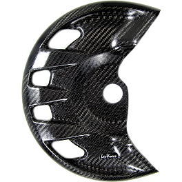 Leo Vince Carbon Fiber Front Disc Guard - 2011 Suzuki RMZ450 Leo Vince Carbon Fiber Rear Disc Guard