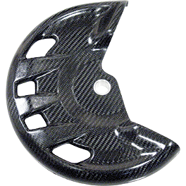 Leo Vince Carbon Fiber Front Disc Guard - Leo Vince X3 Ti-Tech Enduro Full-System - Stainless/Titanium With Carbon Fiber End Cap