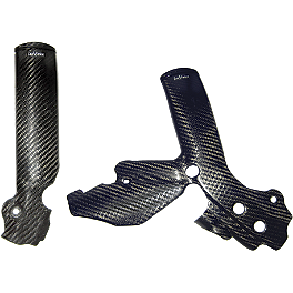 Leo Vince Carbon Fiber Frame Guards - 2011 KTM 530EXC Leo Vince Carbon Fiber Tank Side Cover