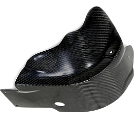 Leo Vince X3 Carbon Fiber Glide Plate With Engine Case Guards And Liquid Overflow - 2011 Kawasaki KX250F IMS Gas Tank - 2.9 Gallons Natural
