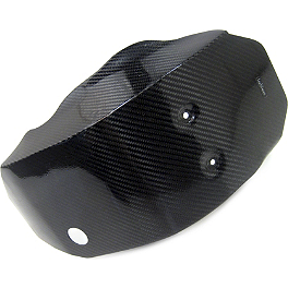 Leo Vince X3 Carbon Fiber Glide Plate With Engine Case Guards - Leo Vince X3 Ti-Tech Motocross Full-System - Stainless/Titanium With Carbon Fiber End Cap