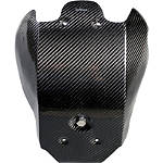 Leo Vince X3 Carbon Fiber Glide Plate With Engine Case Guards And Liquid Overflow - Leo Vince Dirt Bike Products