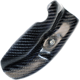 Leo Vince Carbon Fiber Engine Guard - Right - 2009 Honda CRF250X Leo Vince X3 Ti-Tech Enduro Full-System - Stainless/Titanium With Carbon Fiber End Cap