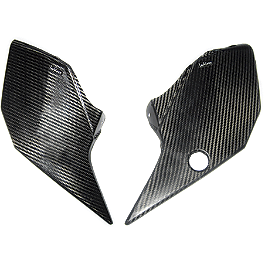 Leo Vince Carbon Fiber Tank Side Cover - 2011 KTM 530EXC Leo Vince Carbon Fiber Tank Side Cover