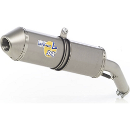 Leo Vince SBK Oval Evo II Slip-On - Aluminum With Conical End Cap - Leo Vince SBK Evo II Underbody Slip-On - Stainless Steel