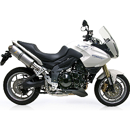 Leo Vince SBK Oval Evo II Slip-On - Aluminum With Conical End Cap - 2007 Triumph Tiger 1050 Leo Vince SBK Oval Evo II Slip-On - Aluminum With Conical End Cap