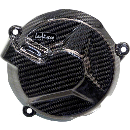 Leo Vince SBK Carbon Fiber Alternator Cover - 2012 BMW S1000RR Leo Vince SBK Carbon Fiber Ignition Timing Cover