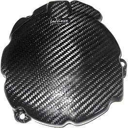 Leo Vince SBK Carbon Fiber Alternator Cover - 2011 Honda CBR1000RR ABS Leo Vince SBK Oval Evo II Slip-On Track Pack