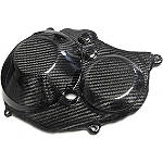 Leo Vince SBK Carbon Fiber Clutch And Ignition Timing Cover -  Motorcycle Engine Parts and Accessories