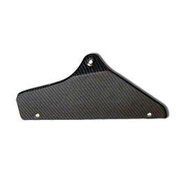 Leo Vince Carbon Fiber Heat Shield For Link Pipe - 2008 Honda CBR1000RR Leo Vince SBK Oval Evo II Slip-On - Carbon Fiber
