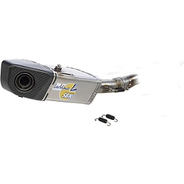 Leo Vince SBK Evo II Underbody Slip-On - Stainless Steel - Vance & Hines CS One Slip-On Exhaust - Black
