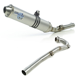 Leo Vince X3 Motocross Full System - Aluminum With Stainless Steel End Cap - Leo Vince Stainless Header Kit