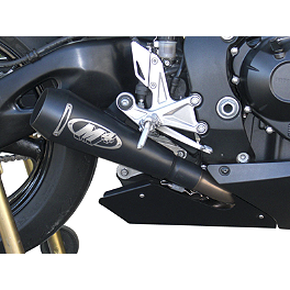 Cosmetic Body Panel - 2008 Honda CBR1000RR M4 GP Series Slip-On Exhaust - Black