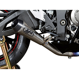 M4 GP Series Slip-On Exhaust - Titanium - 2011 Kawasaki ZX1000 - Ninja ZX-10R M4 GP Series Slip-On Exhaust - Black