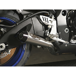 M4 GP Series Slip-On Exhaust - Titanium - 2007 Suzuki GSX-R 600 M4 GP Series Slip-On Exhaust - Black