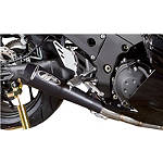 M4 GP Series Drag Full System Exhaust - Black Single - M4 Performance Exhaust Motorcycle Full Systems