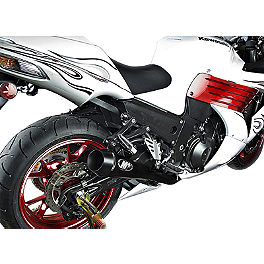 M4 Retro Drag Dual Slip-On Exhaust - 2007 Kawasaki ZX1400 - Ninja ZX-14 M4 Retro Drag Dual Slip-On Exhaust