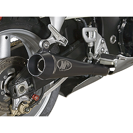 M4 Retro Drag Dual Slip-On Exhaust - 2001 Suzuki GSX1300R - Hayabusa M4 Standard Full System Exhaust - Polished Single