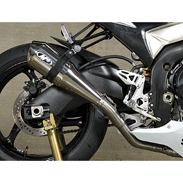 M4 Supersport Series Slip-On Exhaust - Polished - 2010 Kawasaki ZX600 - Ninja ZX-6R M4 GP Series Full System Exhaust - Titanium