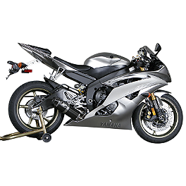 M4 Standard Full System Exhaust - Carbon - 2008 Yamaha YZF - R6 M4 GP Series Slip-On Exhaust - Black