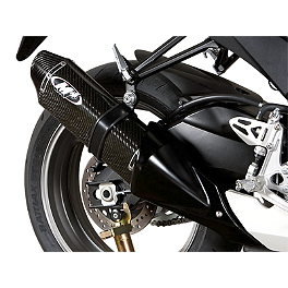 M4 Standard Full System Exhaust - Carbon - 2012 Suzuki GSX-R 750 M4 GP Series Slip-On Exhaust - Black