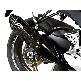 M4 Standard Slip-On Exhaust - Carbon - 2012 Suzuki GSX-R 750 M4 Standard Full System Exhaust - Carbon With Titanium Mid Pipe