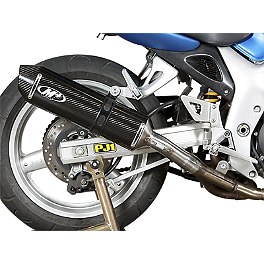 M4 Standard Slip-On Exhaust - Carbon - 2001 Suzuki SV650S M4 Standard Full System Exhaust - Polished