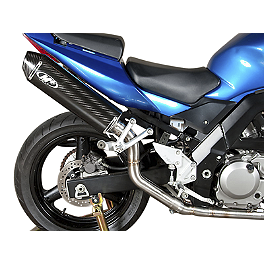 M4 Standard Slip-On Exhaust - Carbon High Sport Mount - 2003 Suzuki SV650 M4 Standard Full System Exhaust - Carbon Race Mount