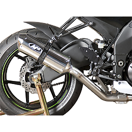 M4 Standard Slip-On Exhaust - Polished - 2009 Kawasaki ZX1000 - Ninja ZX-10R M4 Standard Full System Exhaust - Carbon Race Mount