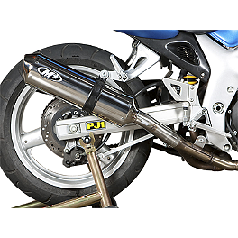 M4 Standard Slip-On Exhaust - Polished - 2001 Suzuki SV650S M4 Race Mount Full System Exhaust - Titanium